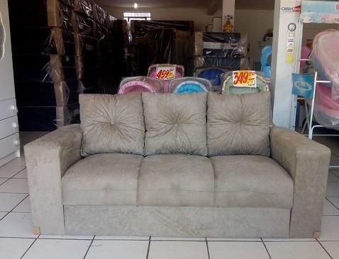 Peça Hoje e Receba No Mesmo Dia Lindo Sofa 3 Lugares Com Almofadas Novo Apenas 479,00