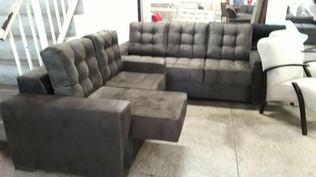 Lindo jogo de sofa retratil no tecido couro envelhecido ...