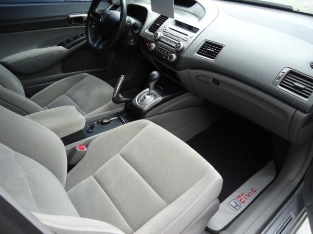 Honda civic lxs 1.8 flex 4p ano 2008 prata - Foto 10
