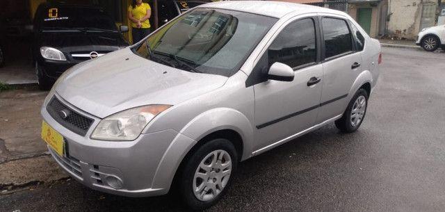 Fiesta Sedan 1.6 2009 Prata Completa Flex+GNV. Entr.+290,24 fixas - Foto 8