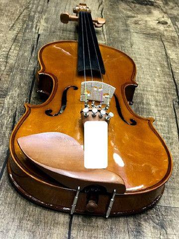Violino 4/4 Eagle Ve441 Series limitada Caramelo Ccb tampo spruce completo a paz - Foto 3
