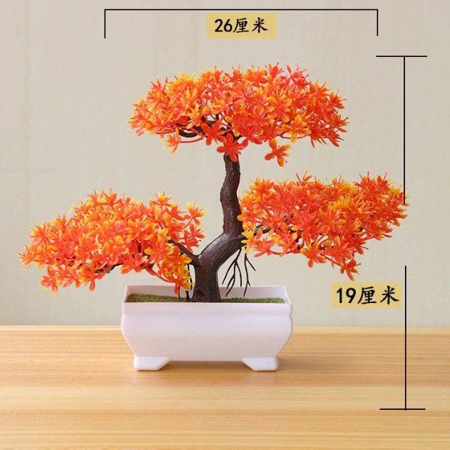 Bonsai Artificial Vaso De Planta Arvore Para Decoração Sala - Foto 2