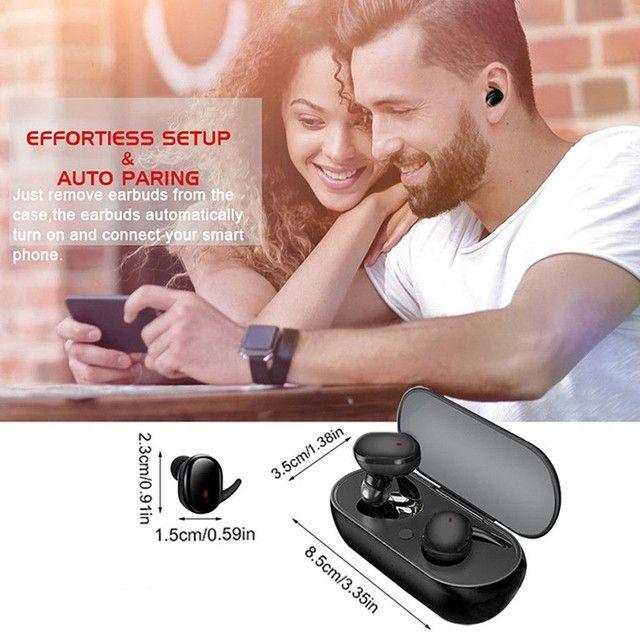 Hyface Mini Fone De Ouvido Intra-Auricular Bluetooth 5.0 De Pareamento Autom Tico - Foto 2