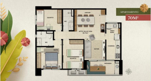Apartamento para venda de 53 a 70 metros quadrados com 2 ou 3 quartos na Caxangá - Foto 14