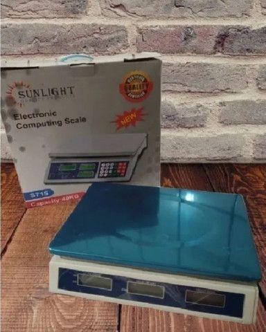 Balança eletrônica comercial 40 kg - Foto 4