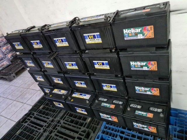 Baterias semi novas de 100ah Moura e Heliar  - Foto 5