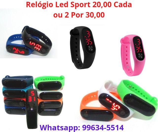 Lindo relógio digital led sport por 20,00 cada