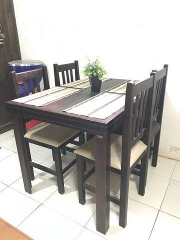 Mesa c/ 4 cadeiras estofadas para Restaurantes/Lanchonetes/Pizzaria - Foto 5