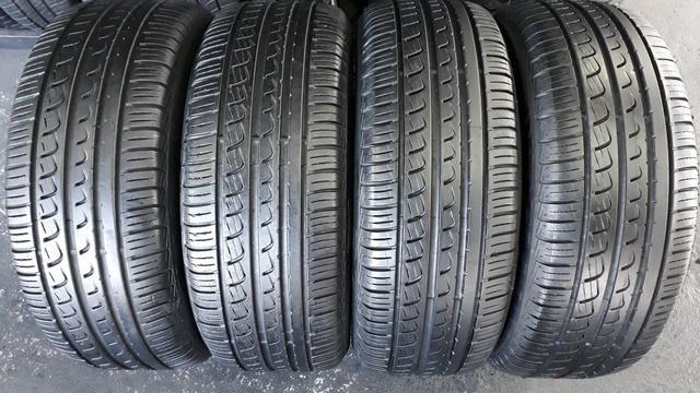 4 pneus Pirelli P7, 205/55/16. SEMINOVOS.