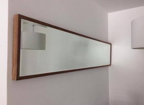 Espelho Bisotê - Moldura Madeira - Lindo!