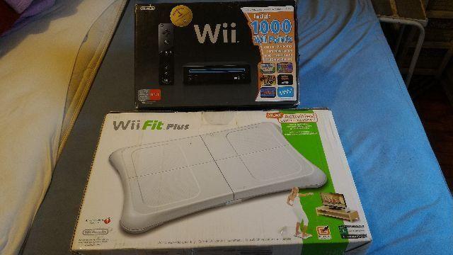 Nintendo Wii + Wii Fit Balance Board +10 Jogos Originais