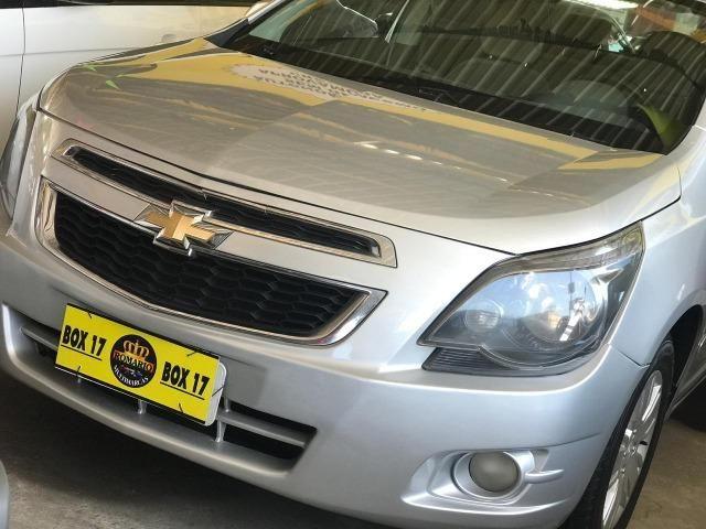 Chevrolet Cobalt 2015 + GNV ltz (mylink, volante multifuncional, automático TOP de linha)