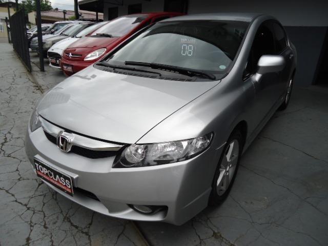 Honda civic lxs 1.8 flex 4p ano 2008 prata