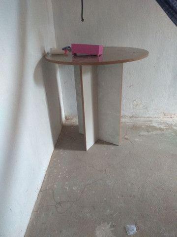 mesa redonda de MDF