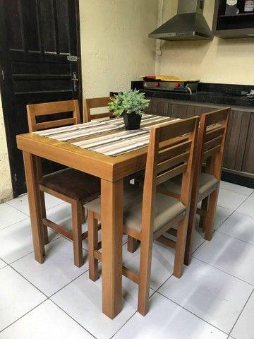 Mesa c/ 4 cadeiras estofadas para Restaurantes/Lanchonetes/Pizzaria