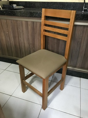 Mesa c/ 4 cadeiras estofadas para Restaurantes/Lanchonetes/Pizzaria - Foto 2