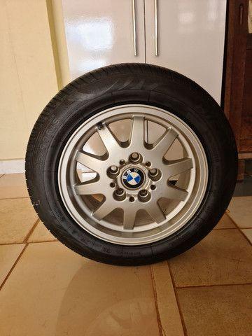 Roda original BMW com pneu novo