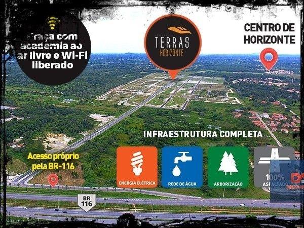 Terras Horizonte - Lotes de 175 m² (7 X 25) $^
