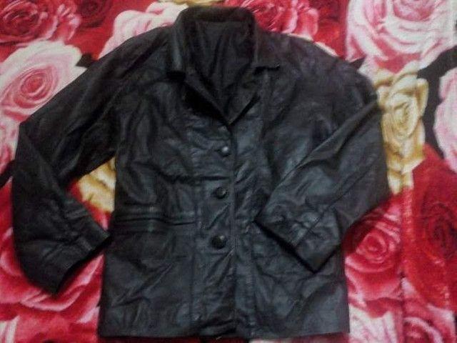 Blazer jaqueta em couro legítimo