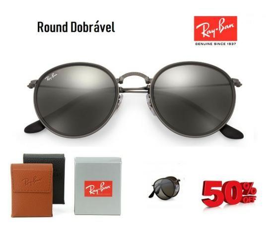 Óculos Ray Ban Round Dobrável RB3517 Várias Cores Original Com Garantia de  1 ano 4816d8b62b