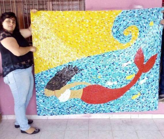 Golfinho para Piscina mosaico - Foto 4