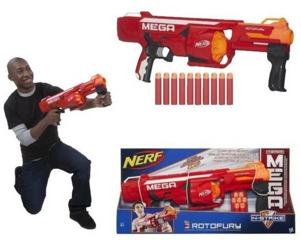 Lançador de Dardos Nerf N -Strike Mega Rotofury