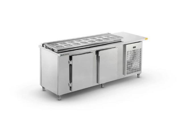 Balcão refrigerado condimentador 1,50mt - Foto 2