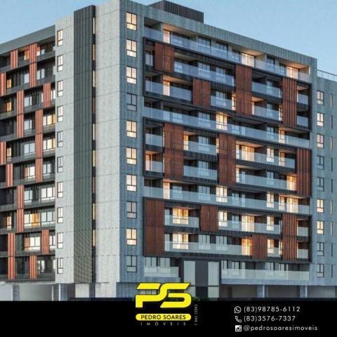 Apartamento com 2 dormitórios à venda, 60 m² por R$ 468.000 - Cabo Branco - João Pessoa/PB - Foto 2