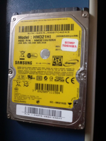 HD notebook 320 GB Samsung - Foto 2