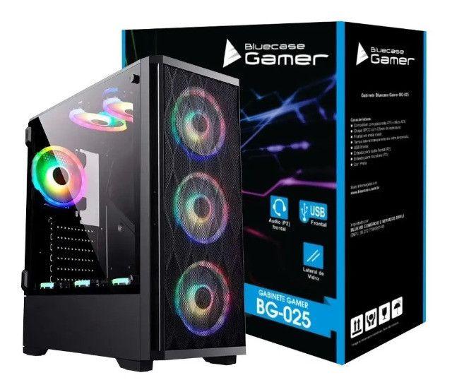 Gabinete Gamer Bluecase Bg-025 Vidro Temperado Atx - Imperium Informatica