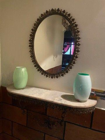 Aparador de parede colonial em bronze e marmore - Foto 2