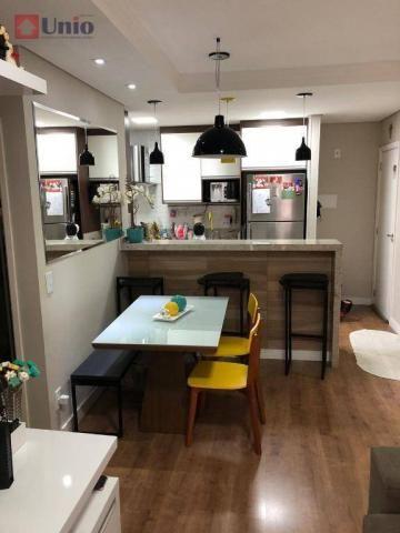 Apartamento com 3 dormitórios à venda, 68 m² por R$ 390.000 - Alto - Piracicaba/SP - Foto 3