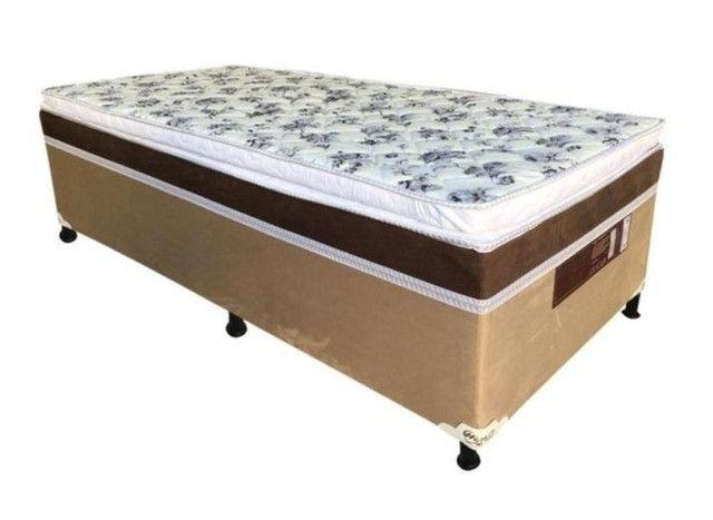 Cama Box - Solteiro Box Elegance com Pillow - Cama Box