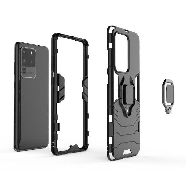 Capa 4 em 1 Anti Impacto Choque Militar Samsung Galaxy S20 Ultra, aceito cartão - Foto 3