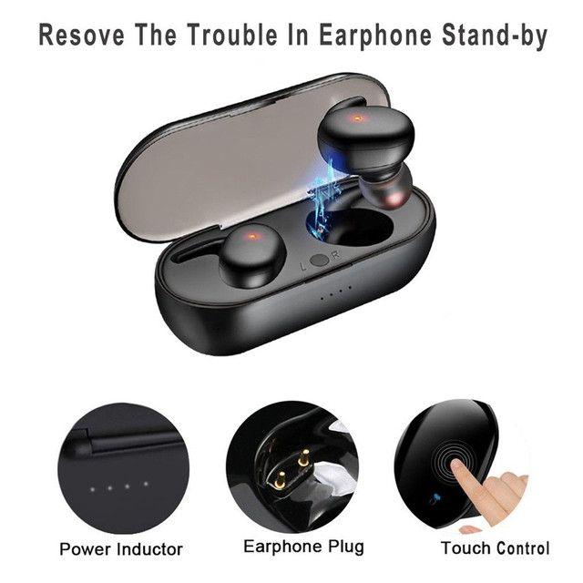 Hyface Mini Fone De Ouvido Intra-Auricular Bluetooth 5.0 De Pareamento Autom Tico - Foto 4