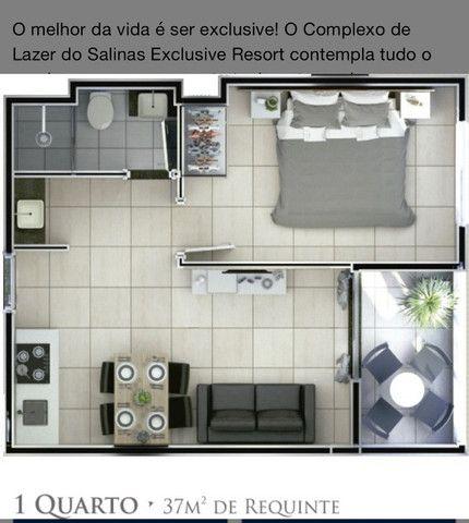Apartamento Exclusive Resort em Salinas-PA - Foto 3