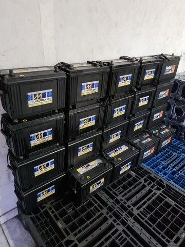 Baterias semi novas de 100ah Moura e Heliar  - Foto 2