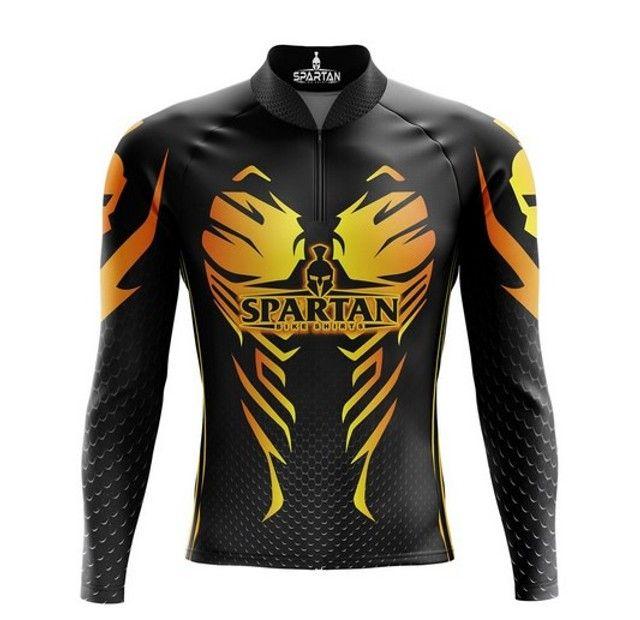 Camisa ciclista bike mangalLonga - Marca Spartan proteção solar FPU 50+