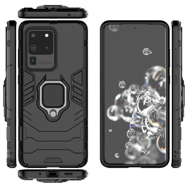 Capa 4 em 1 Anti Impacto Choque Militar Samsung Galaxy S20 Ultra, aceito cartão - Foto 4