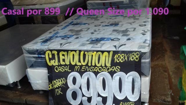 Conjunto Cama Box + Colchão Queen size Plumatex Dividimos em até 12 x sem juros