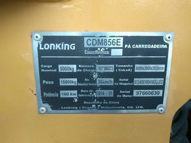Pá carregadeira lonking 856-e/2014 - Foto 6