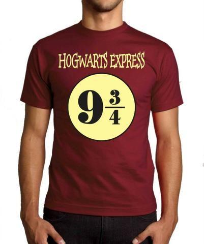 cae18dcc4 Camisa, Camiseta Harry Potter Plataforma 9 3/4 Potterheads - Roupas ...