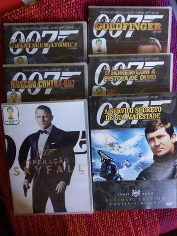Dvd's 007 (23 reais cada)