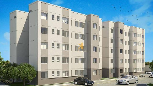 Apartamento com 2 dormitórios sendo 1 suíte reversível à venda, 42 m² por R$ 143.635 - Tam - Foto 2