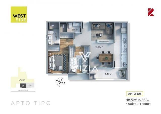 Apartamento com 1 dormitório à venda, 41 m² por R$ 315.000,00 - São Francisco - Curitiba/P - Foto 19