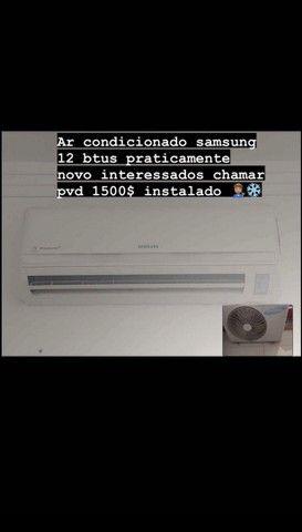 Ar condicionado samsung praticamente novo funcionando perfeitamente