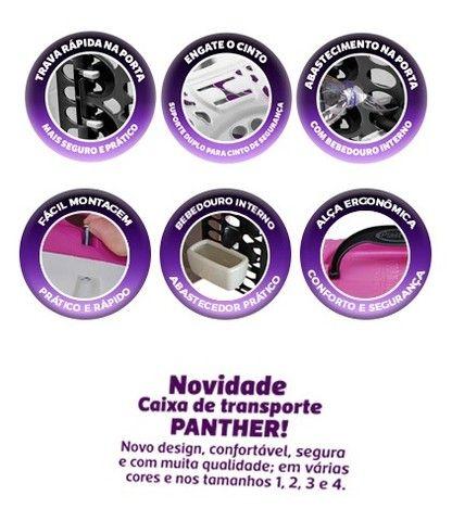 Caixa de Transporte Panther Pop Plast Pet N 3 na cor (Vermelha)  - Foto 2