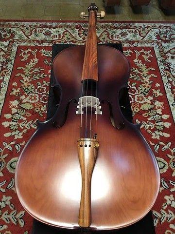 Violoncelo 4/4 Nhureson premium madeira nobre exposta Araucaria Serie limitada - Foto 3