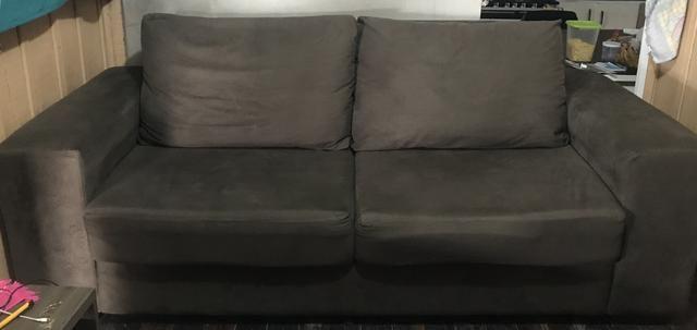 Sofá conjunto 3 e 2 lugares retrátil