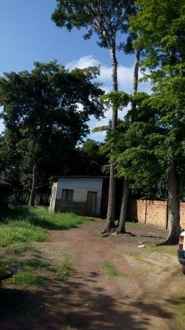 Vendo terreno com casa de madeira